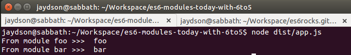 ES6 modules today with 6to5 - JS Rocks